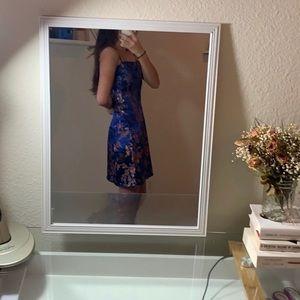 Lulu's Dresses - Floral satin cami jacquard dress